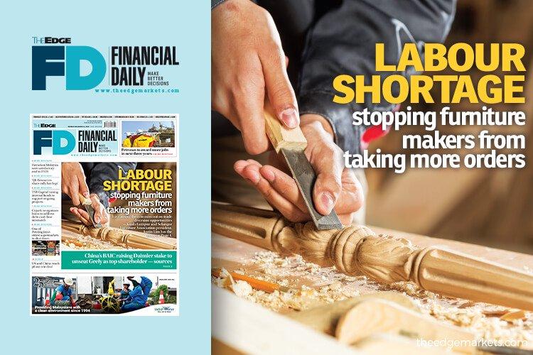 劳工短缺阻止家具制造商接受更多订单